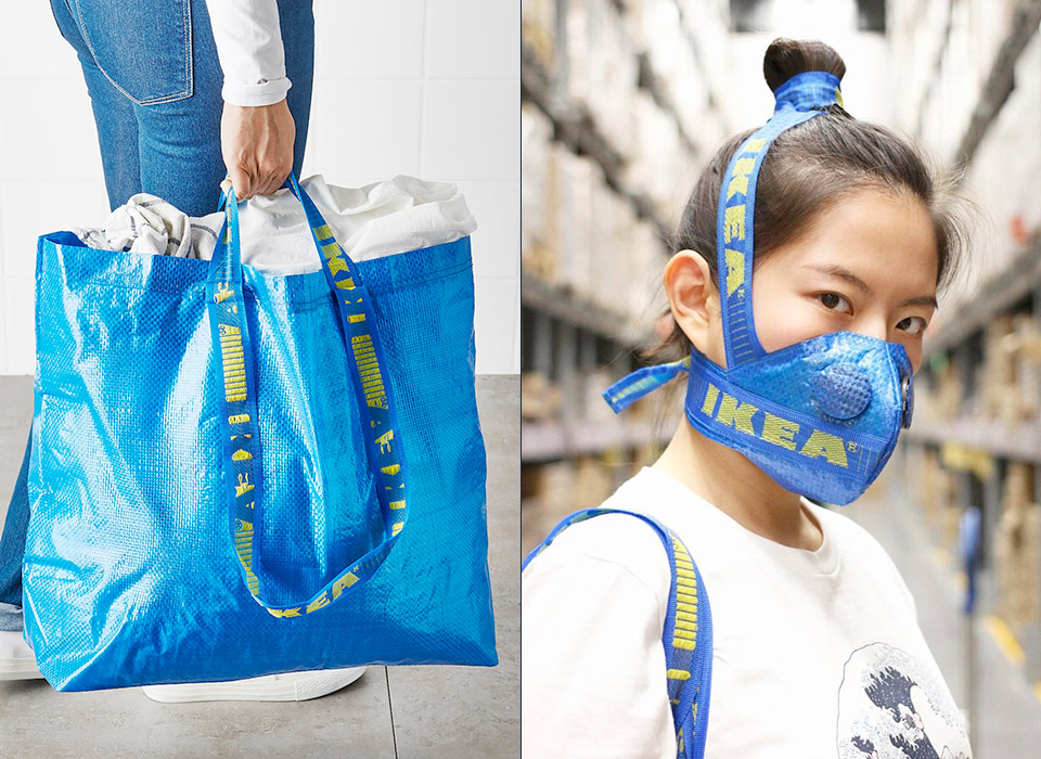 IKEA Frakta Shopping Bag Face Mask