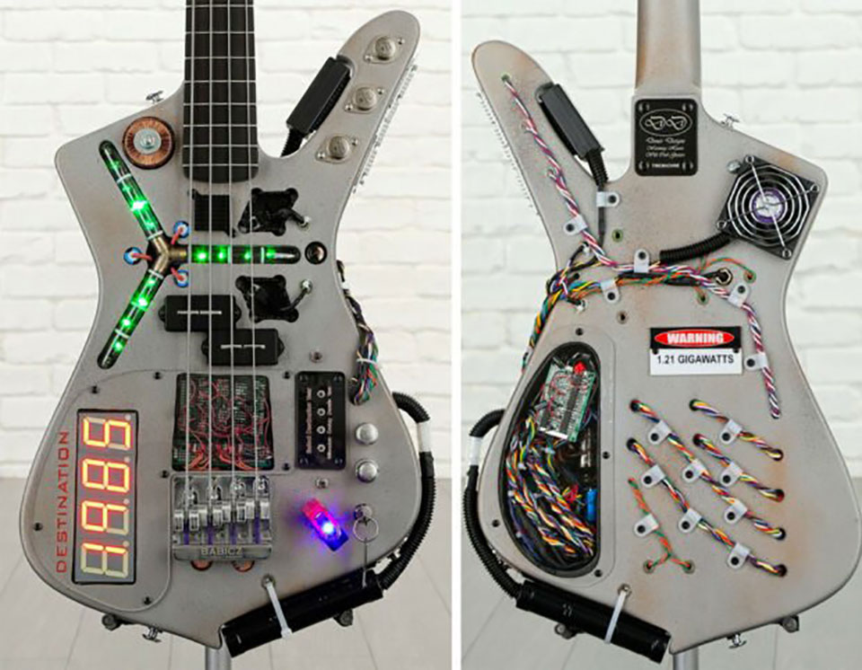 Back to the Future Time Machine Bass Guitar