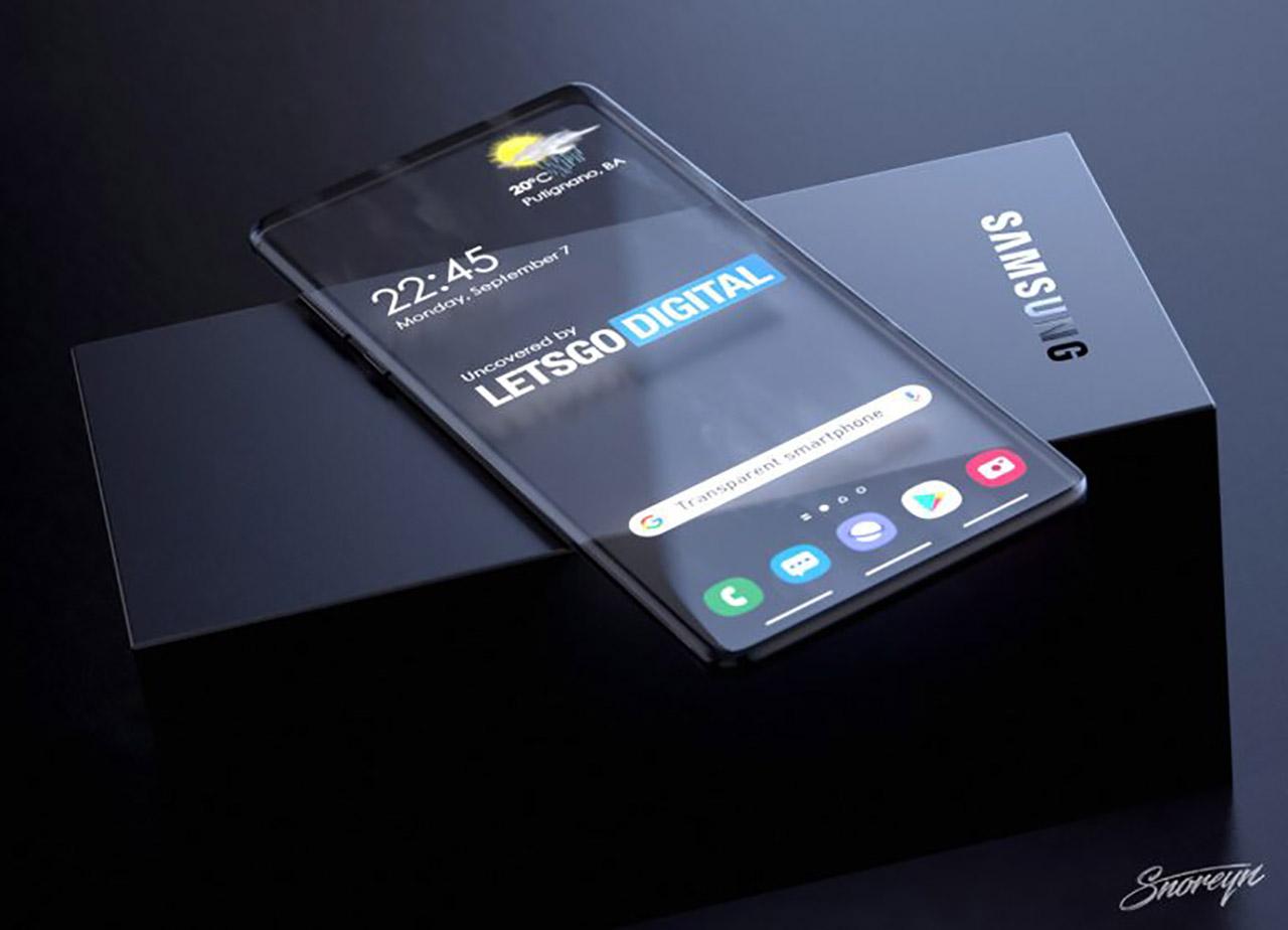 Transparent Samsung Galaxy Smartphone